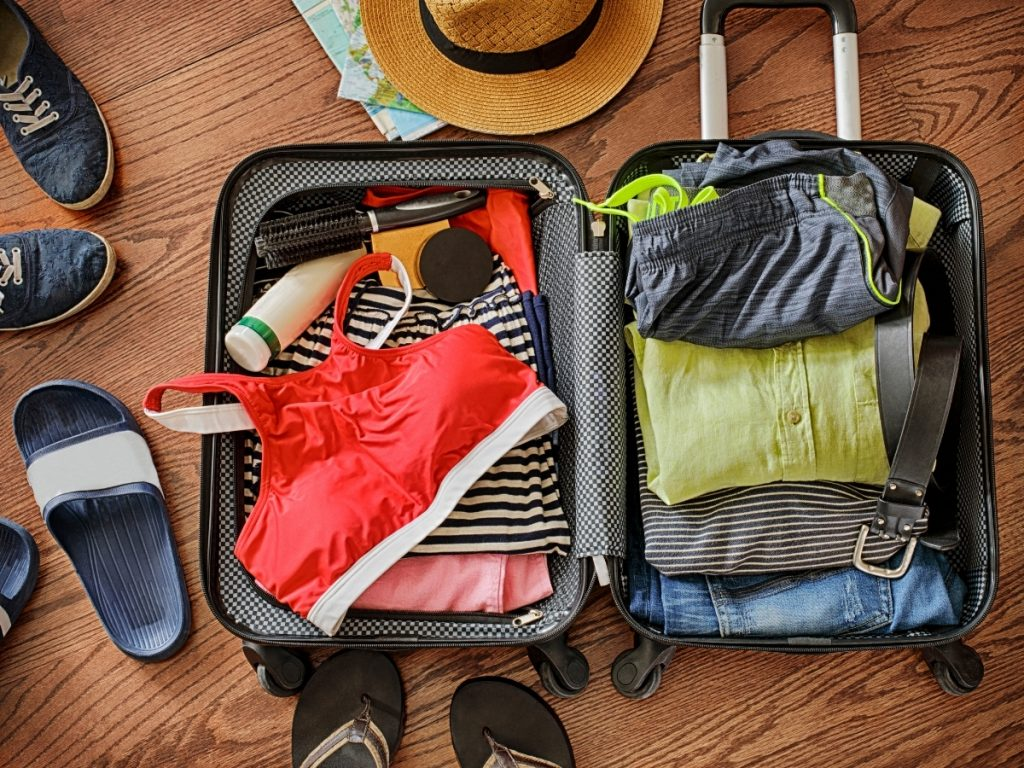 valigia vacanze in barca