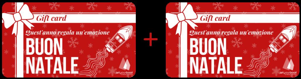 Regali di Natale per appassionati di mare e nautica, gift card Letyourboat