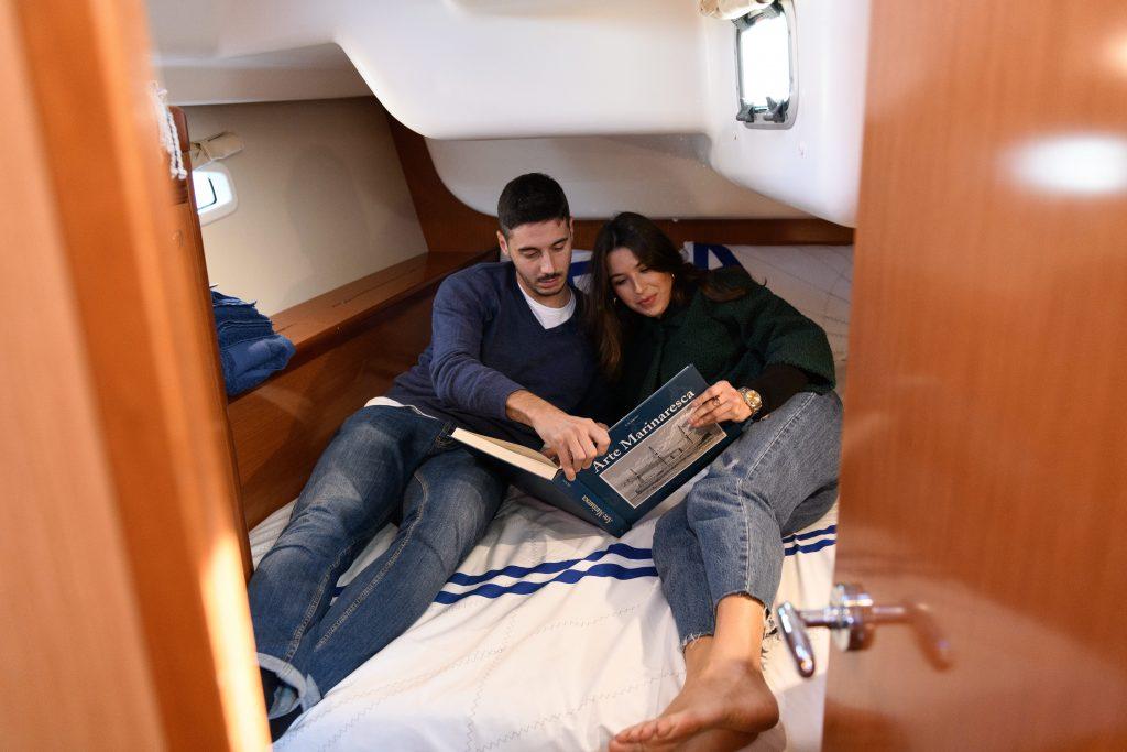 emozioni in barca, dormire in cabina