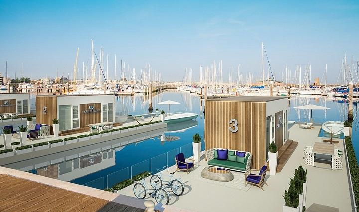 Houseboat, floating resort