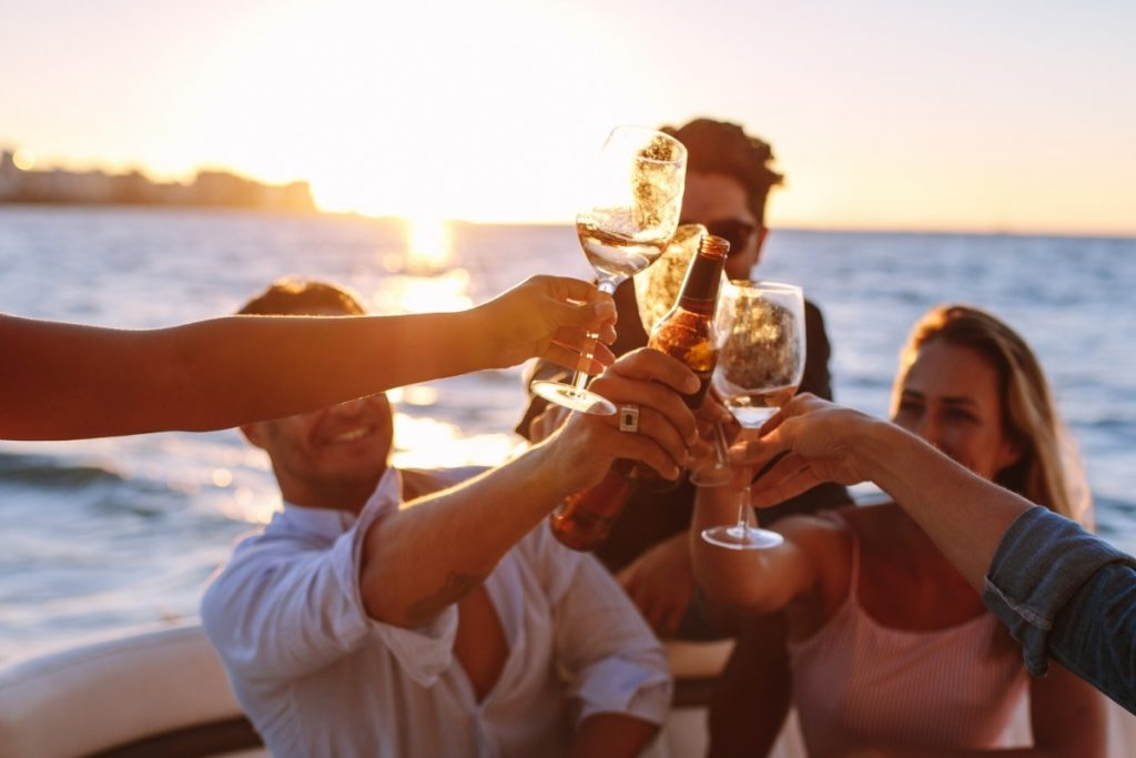 Boat holiday in the Balearic Islands, drink