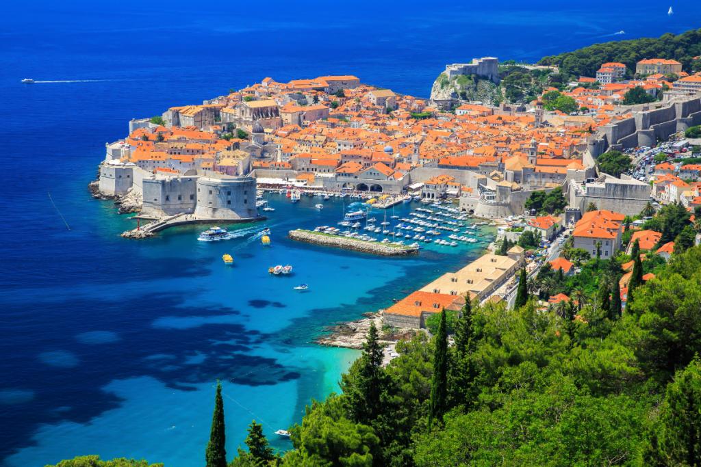 Croazia in barca, paesaggio