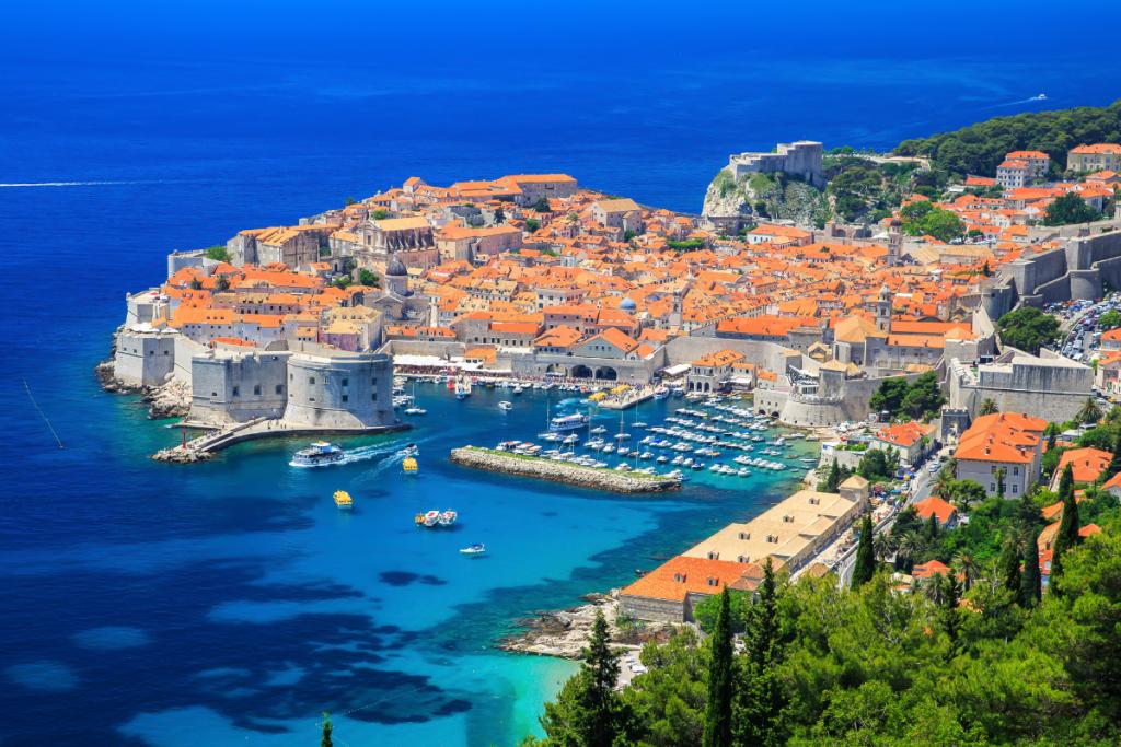 Croatia by boat, landscape