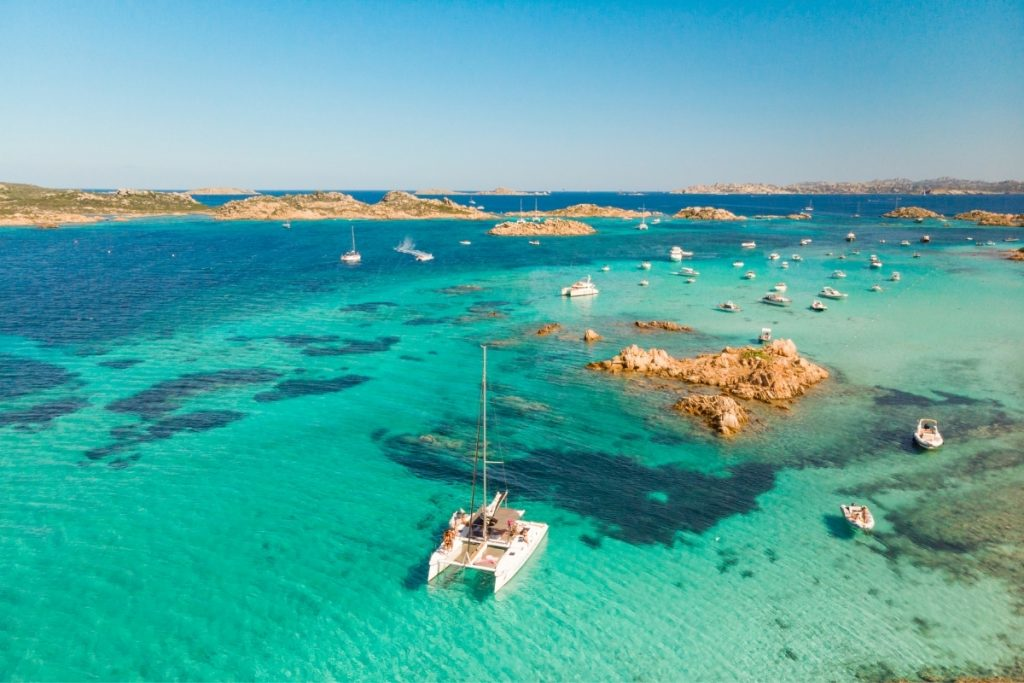 Boat holiday in Sardinia, catamaran