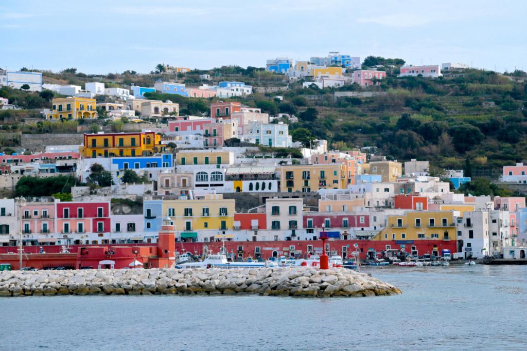 Die Latium- Küste, Inseln Ponza