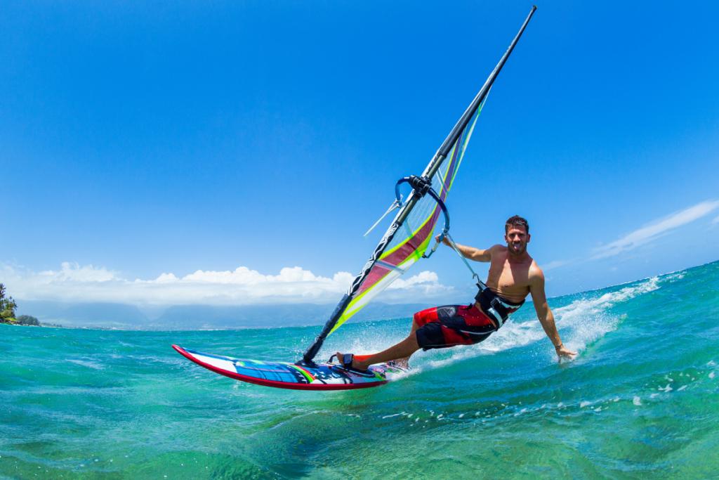 Die Latium- Küste, Windsurfen