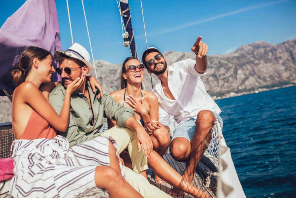 Bootsurlaub auf Sardinien, freunde