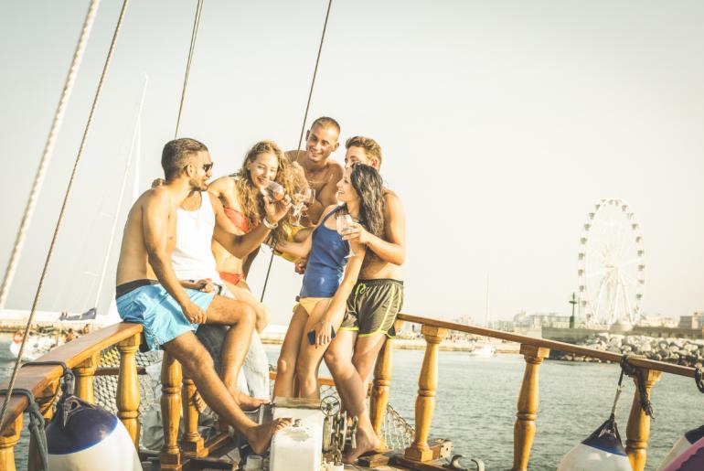 Rimini e Riccione in barca, divertimento