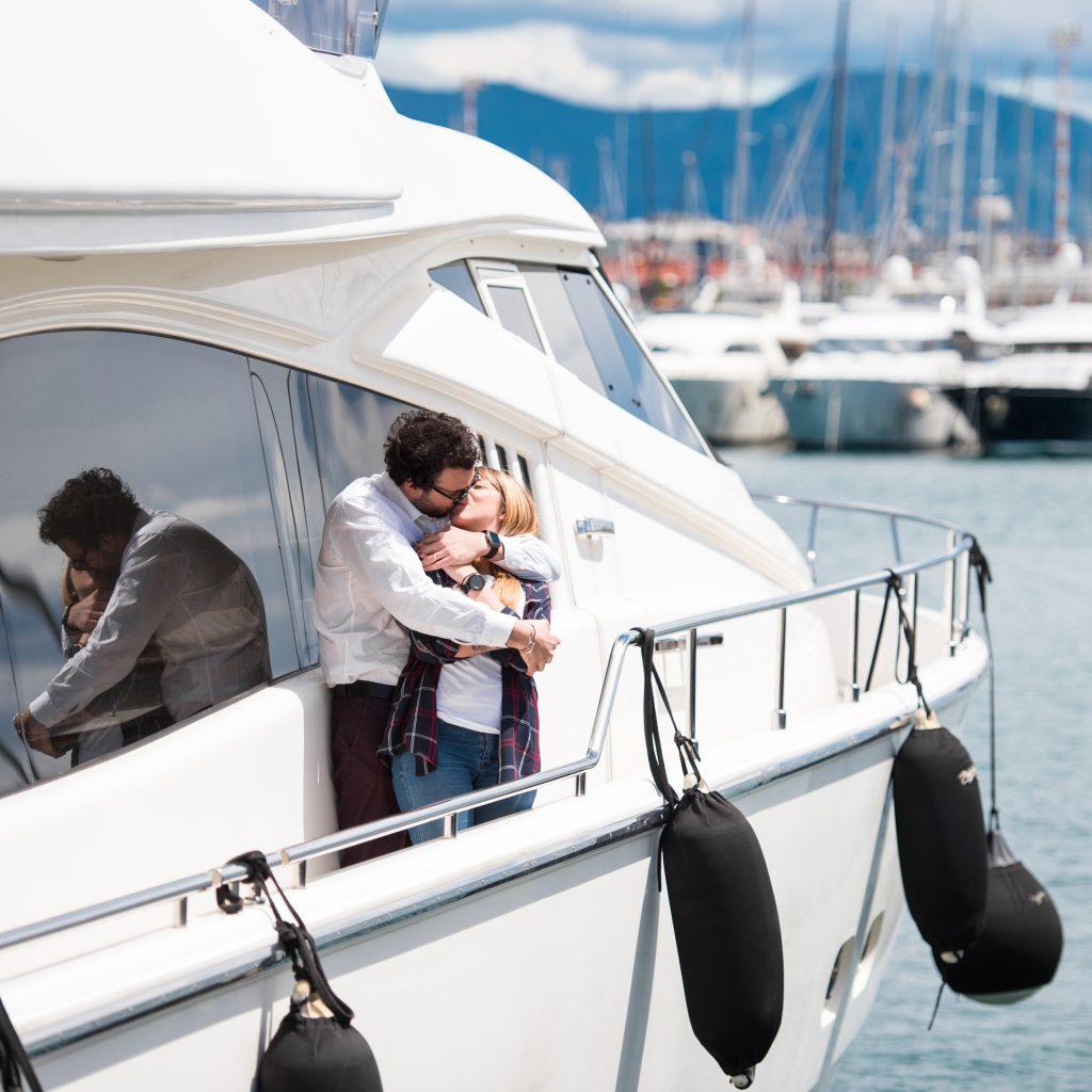Pärchen auf einem Leihboot